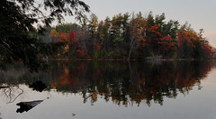 Bond Lake (Faron) Tags: bond lake sunset ontario richmond hill scenic fall autumn leaves saturated evening canon 5ds walking trail 24105