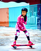 Skyline Skaters 15 (C & R Driver-Burgess) Tags: middleschool juniorhigh kids children boys girls young teen preteen ripstick inline skates skateboard pink blue shorts tights jacket tshirt concrete yard playground trees playing practice people