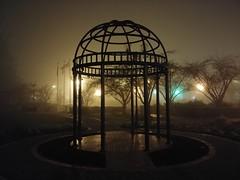Original foggy gazebo. (thnewblack) Tags: lg v30 android smartphone cameraphone outdoors night dark moody foggy rainy britishcolumbia 16mp f16