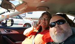 10/19/17 - Amy and I on the road (CubMelodic23) Tags: october 2017 vacation trip me selfportrait dave friend amy driving