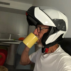 Settling In (Meremail) Tags: 7daysofshooting week20 new shootanythingsaturday motorbike helmet bmw
