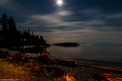 Sunshine Coast BC (jamiepacker99) Tags: october 2017 fall sunshinecoast night longexposure bc canada halfmoonbay beach landscape seascape moon canoneos6d canonef24105mmf4lisusmlens