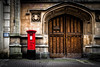Guildhall Post Box, Bristol, UK (KSAG Photography) Tags: postbox hdr bristol uk england unitedkingdom door medieval architecture history heritage wideangle nikon november 2017 street city urban autumn europe red