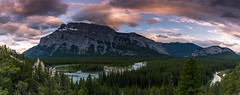 Mount Rundle and the hoodoos in Banff National Park (tvrdypavel) Tags: adventure alberta banff bare beauty bowvalley canada canadian colorful evergreen forest hoodoo landscape mount mountrundle mountain national nature outdoor park pine river rock rocky rockymountains rundle scenery scenic sky snow spruce stone summer travel trees tunnel valley view vista white wild