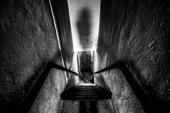U. (AloysiaVanTodd) Tags: urban explore explorer urbex natural light home house abandoned creepy dark darkness dismal window corridor staircase stair decay shadows sombre soul sensitivity shades black blackandwhite bnw bw