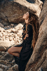 Queen of Thailand II (ClvvssyPhotography) Tags: 500px f18 ef 85 mm thailand rocks beach girl fashion beautiful beauty sunny canon eos 5d sunlight outdoors country female stones style hairstyle boho nature queen did not fire