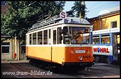 5005-1994-09-24-1-Betriebshof Wittenberger Straße (steffenhege) Tags: leipzig lvb tram strasenbahn streetcar arbeitswagen fahrschulwagen pullmann 5005