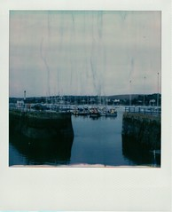 Falmouth Harbour (ifleming) Tags: polaroid slr680 gen3betafilm 600colour impossibleproject cornwall falmouth