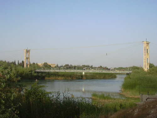 Deir ez-Zor, Die französische Hängebrück über den Euphrat
