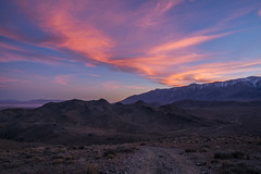 Sunset Over the Hills (Kurt Lawson) Tags: alabama clouds copyrighted fire hills inyo lake lone mountains movie nevada owens pine road sierra sierranevada sky sunset valley