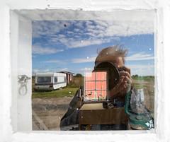 Windows (leo.roos) Tags: window raam glass reflection weerspiegeling selfie selfportrait photographer blekinge nogersund a900 minolta minolta173535 minoltaaf1735mmf35g amount sweden zweden zwedenaugustusseptember2011 darosa leoroos