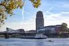 x x (Sabinche) Tags: frankfurt hesse germany autumn river main rowing mainplaza cargoship canoneos7dmarkii sabinche