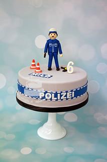 Police Playmobil Cake