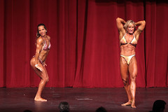 Hot Female Fitness Contestant (Rick Drew - 19 million views!) Tags: fitness workout model heels bikini red drapes curtain stage blonde pose posing posed tattoo ink rip ripped healthy fit