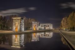 Templo de Debod (jetepe72) Tags: templo debod madrid centro urbana nocturna reflejos agua luz españa spain