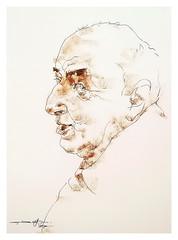 P1017283 (Gasheh) Tags: art painting drawing sketch portrait man line pen pastel gasheh 2017
