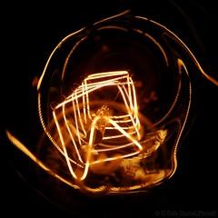 below the bulb . . . (C.Kalk DigitaLPhotoS) Tags: glühbirne glühlampe lightbulb licht light illumination macro makro closeup gold golden details glow glowing beleuchtung reflection below bulb glühfaden filament
