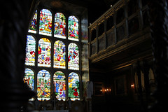 Stained glass window in The Chapel (Canadian Pacific) Tags: england english great britain british manor house stately home mansion hertfordshire hatfield al9 jacobean building architecture 1600 1610 1600s 1610s 2016aimg1754 chapel stained glass window windows