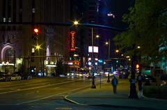 Warm November Night (ramseybuckeye) Tags: broad street columbus ohio palace theatre marquee neon signs people cars traffic lights