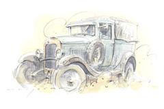 Citroen (Stefan Marjoram) Tags: watercolour pencil sketch drawing art car vintageadvent