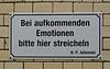 Hackesche Hoefe, Berlin (SomePhotosTakenByMe) Tags: beiaufkommendenemotionenbittehierstreicheln hanspeteradamski adamski hpadamski sinnspruch epigram spruch schild sign kurios outoftheordinary hackeschehöfe hackeschehoefe urlaub berlin vacation holiday deutschland germany stadt city downtown innenstadt outdoor spandauervorstadt mitte