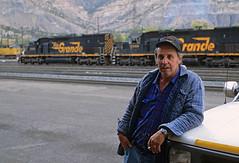 Goodbye, Mel (Moffat Road) Tags: melbaughman riogrande helper utah engineer emd tunnelmotor sd40t2 locomotive railroader ut