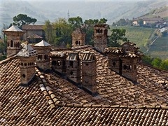 The Chimneys of Neive (Professor Bop) Tags: chimneys tiledroofs professorbop drjazz olympusem1 langhe italy