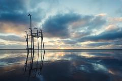 Amrum Sunset (beginner17) Tags: amrum familie insel nordsee urlaub sunset beach strand sonnenuntergang kniepsand mood spiegelung stimmung abendstimmung sonne wolken wasser fujixt1 xt1 fujifilm xf14 14mm