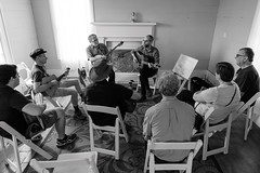 Beginning Irish Guitar with Jeff Moore (-Dons) Tags: austin austincelticfestival2017 jeffmoore pioneerfarms texas unitedstates banjo guitar chair tx usa lesson learn teacher hat room window