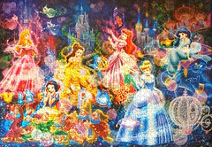 Brilliant Dream (1000 pcs) (ZomZorrow) Tags: girls snow white sleeping beauty cinderella carriage princess aurora ariel mermaid magic disney animated characters jasmine aladdin lamp castle night holographic