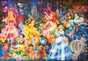 Brilliant Dream (1000 pcs) (@zom zorrow) Tags: girls snow white sleeping beauty cinderella carriage princess aurora ariel mermaid magic disney animated characters jasmine aladdin lamp castle night holographic