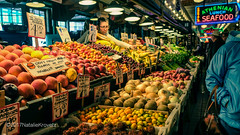 Pike Place market, Seattle, WA (nataliekrovetz) Tags: seattle pnw pikeplace farmersmarket market vegetables fruit produce people food color washingtonstate fujifilm xt10