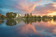 (.pydjhaman) Tags: landscape paysage nuages clouds autumn tree reflets reflection riviere river water sunset sky skyscape sunsetsky redsky sunlight serenity peaceful nature outside france lorraine moselle artiste realisateur photographe filmmaker photographer pydjhaman