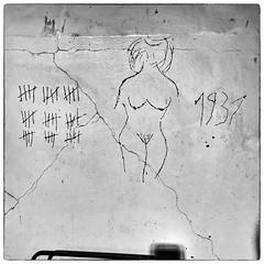Doing time (Jerzy Durczak) Tags: prison jail arrest woman graffiti naked