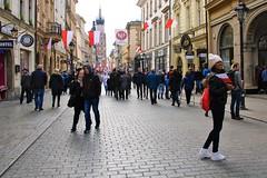 I love Poland (evko ... mostly off ...) Tags: poland pologne polen polonia polska kraków cracovie la rue cracow flaga friends amis święto niepodległości