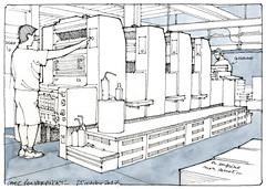 Chez Raymond Vervinckt (gerard michel) Tags: imprimerie vervinckt sketch croquis liège