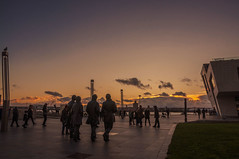 Fab Four on the waterfront (Tony Shertila) Tags: 20171105180734 liverpool england unitedkingdom europe britain merseyside statue beatles sunset waterfront sky clouds