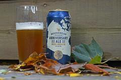 This weekend's featured beer (Stickwork-Steve) Tags: beer beercan beerglass moosehead ale anniversaryale sony sonya7ii sonyfe24240mm
