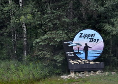 Zippel Bay State Park Entrance Sign (Funkomaticphototron) Tags: coryfunk mn minnesota zippelbaystatepark baudette warroad woods statepark lakeofthewoods