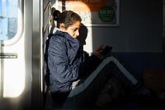 Seat (dtanist) Tags: nyc newyork newyorkcity new york city sony a7 canon fd 50mm bensonhurst dtrain subway train mta brooklyn commuter transit seat