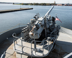 AftGun_101599 (gpferd) Tags: baltimore boat equipment flag fortmchenry landmark libertyship river ssjohnwbrown vehicle water maryland unitedstates us