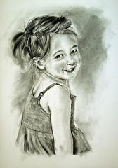 Charcoal portrait V.I.P. girl (Andreas Heinen) Tags: char charcoal drawing portrait art zeichnung sketch realistic realism lights