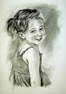 Charcoal portrait V.I.P. girl