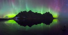 Icelandic Nights (David Crombie Photography) Tags: iceland aurora auroraborealis northernlights longexposure reflection vestrahorn night nightsky nature astronomy astrophotography