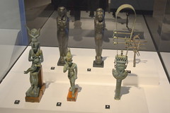 Chicago, IL - Grant Park - Field Museum - Ancient Mediterranean Cultures in Contact - Egyptian Statues and Sistrum (jrozwado) Tags: northamerica usa illinois chicago museum fieldmuseum naturalhistory grantpark egyptian statue sistrum