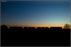 The End of Autumn (Resilient741) Tags: class 66 67 dbs db schenker dbc cargo skip shed train trains rhtt railhead treatment mml midland main line railway railways rail british rails leicestershire kibworth east langton 3j93 water cannon leaf buster sunset sun set dusk hdr high dynamic range