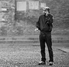 I don't know! (Mattiii photo) Tags: street streetphotography streetphoto streetshot streetphotographer streets streetitalia streetph streetshots streetlife streetphotograph streetparma italianstreetphotography italianstreetphotographer urban urbanphotography urbanphoto urbanshot urbano person man one telephone smartphone call idontknow boh maybe blackandwhite blackandwhitephotography blackandwhitephoto blackandwhiteshot blackandwhitephotographer blackwhite bnw biancoenero monochromatic monochrome portrait face expression funny