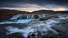 BRUARFOSS (FredConcha) Tags: iceland waterfall sea sunset rocks bruarfoss longexposure lee fredconcha nikon d800 1635 clouds