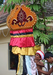Perahera Banner (1X7A5572b) (Dennis Candy) Tags: srilanka ceylon serendip kandy esala day perahera gedige temple viharaya festival buddhism tradition culture heritage sacred holy motif man banner