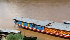 Mekong River boat (_gem_) Tags: travel luangprabang laos asia southeastasia rural countryside nature country mekong river mekongriver water boat